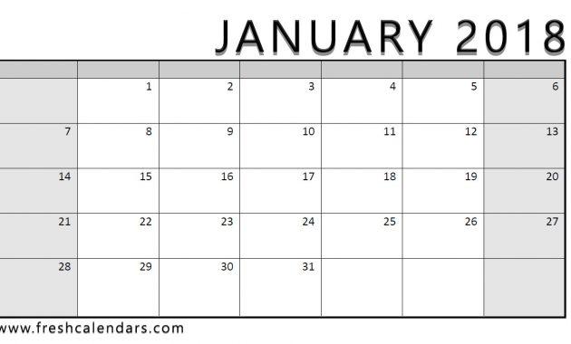 Calendar Template 2018calendar Example 2018