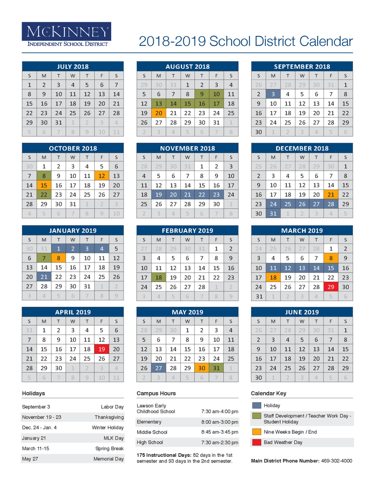 McKinney ISD approves 2018 19 calendar: District of Innovation