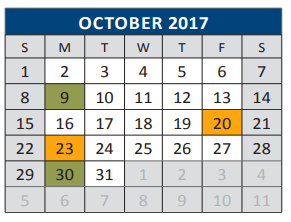 Faubion Middle School District Instructional Calendar Mckinney