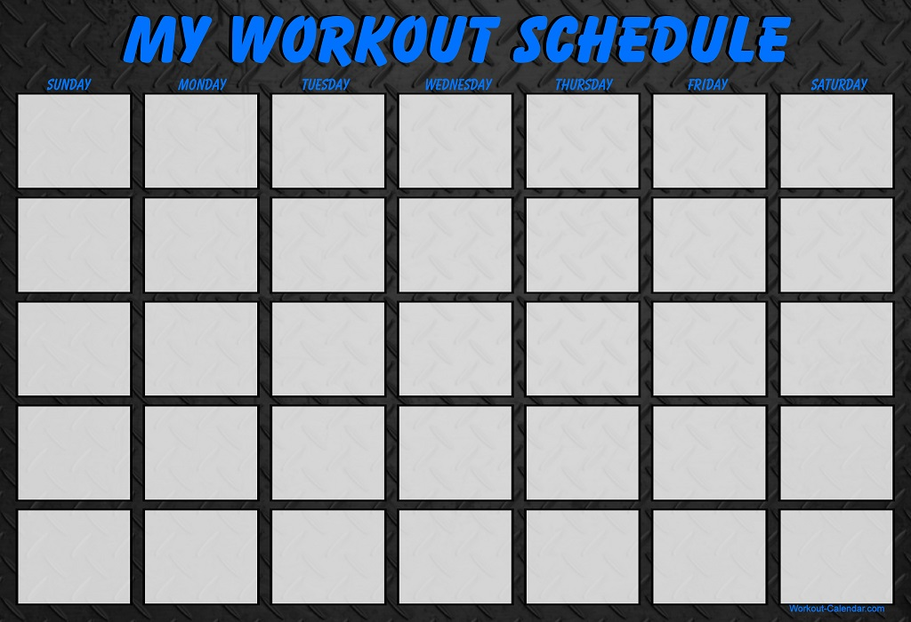 21 Day Fix Workout Calendar | Print A Workout Calendar