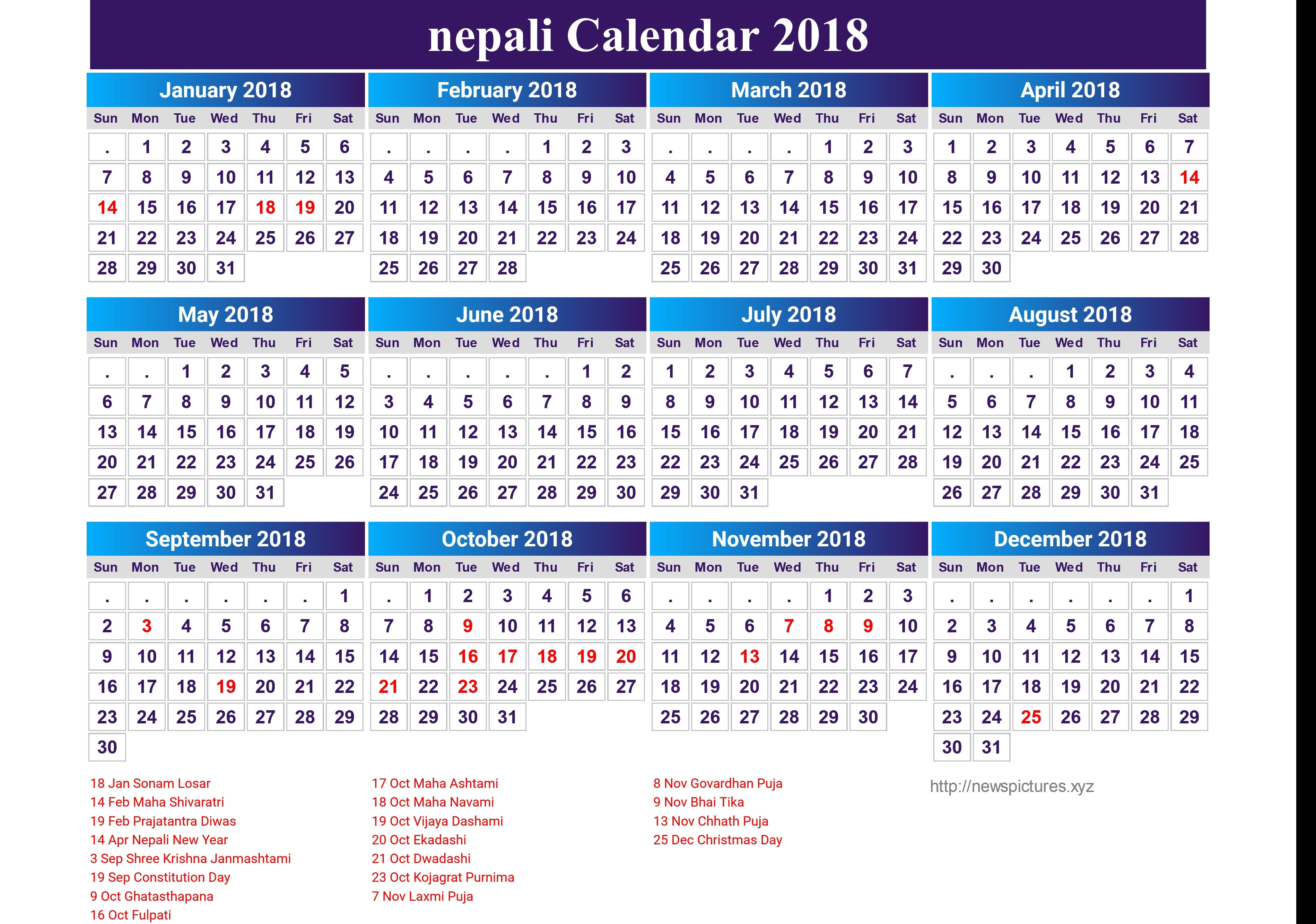 Nepali Calendar 2018 19 Newspicturesxyz Printable Calendar – Qualads