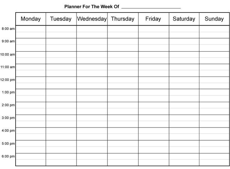 printable weekly planner calendar Ideal.vistalist.co