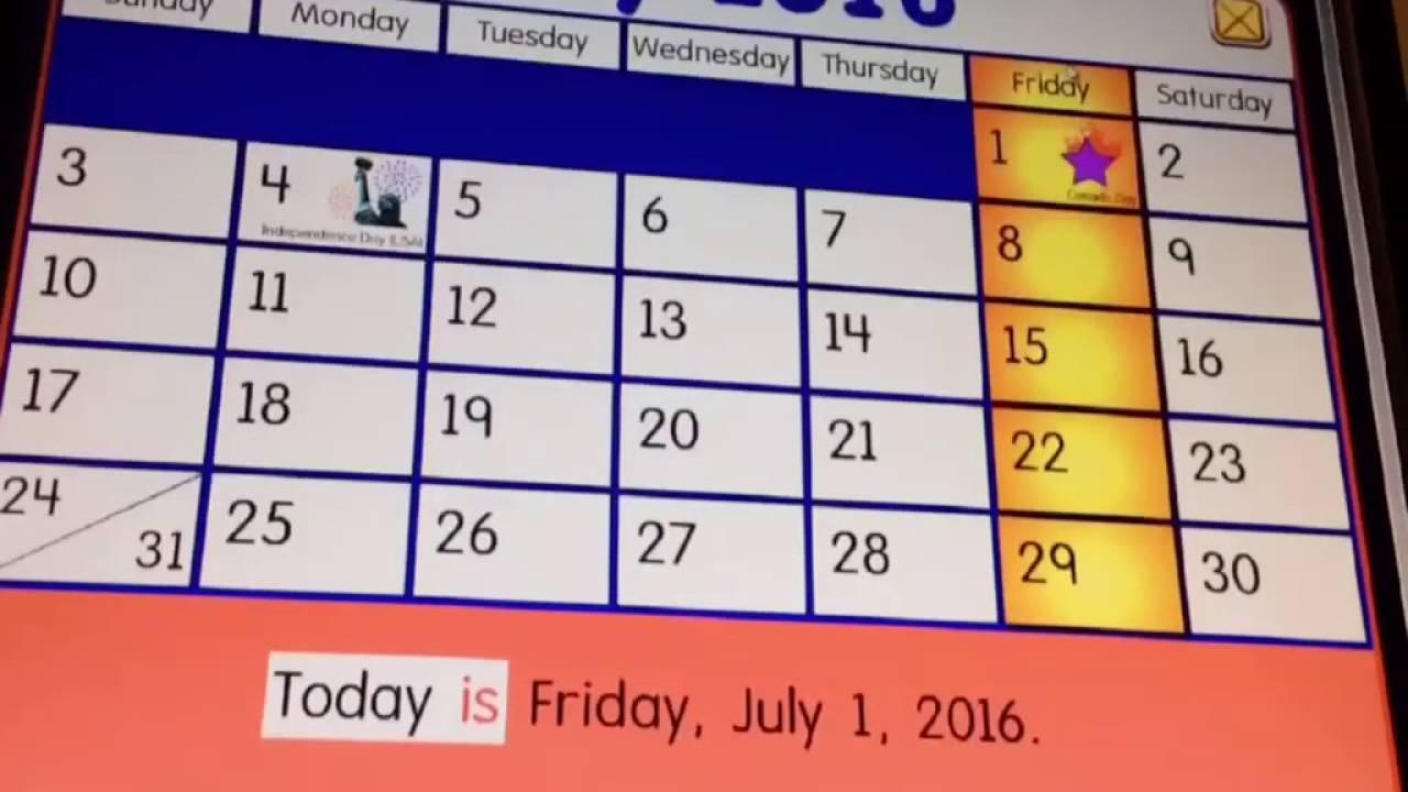 Starfall Calendar | monthly calendar template