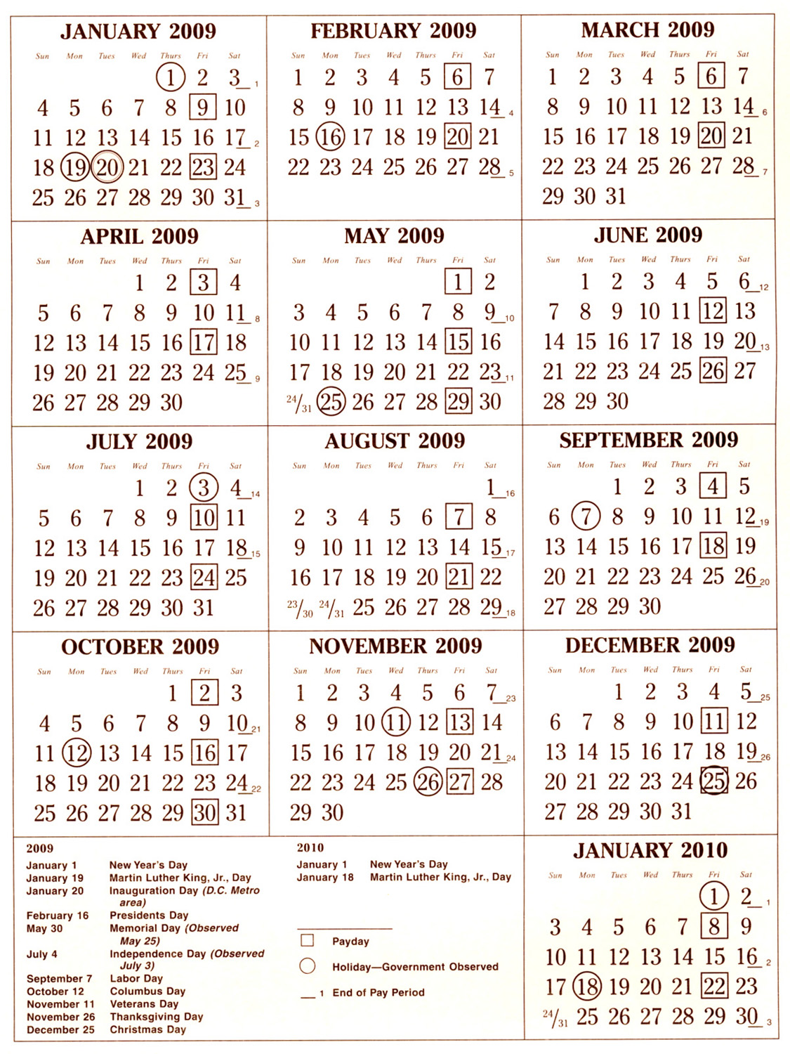 Printable Pay Period Calendar 2018 | Calendar 2018 Printable