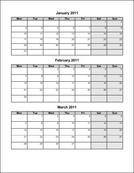 Print 2011 Calendar : Four Pages (Quarterly) : Ask the eConsultant