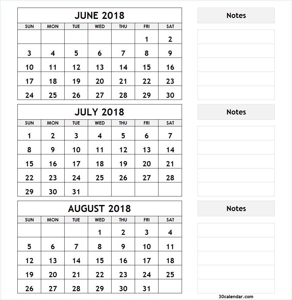 Printable Month Calendars July And August | Calendar Printable Free