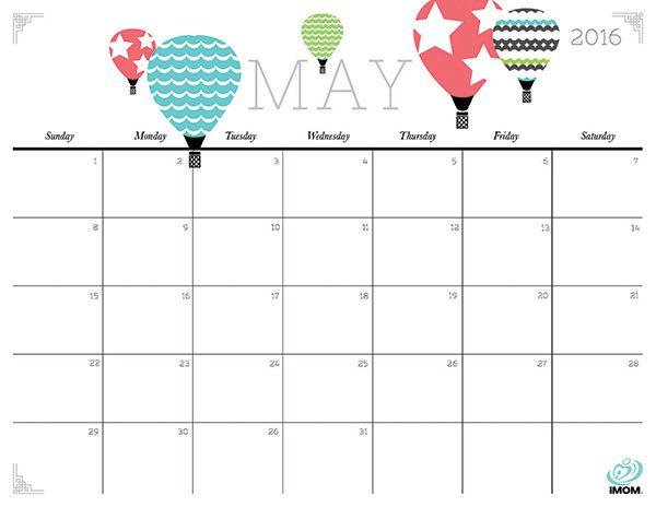 Free Printable Monthly Calendar 2016 Free Cute Calendars Printable