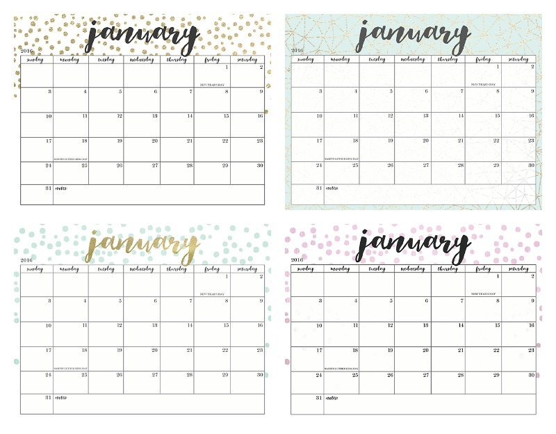 photo relating to Pretty Calendars identify Totally free Printable Every month Calendar 2016 Cost-free Lovely Calendars