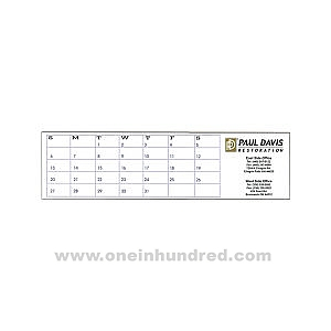 Imprinted Undated keyboard calendar pad, 22