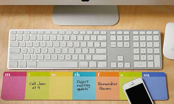 Lulalu Keyboard Desk List Pad Stripes Weekly Calendar