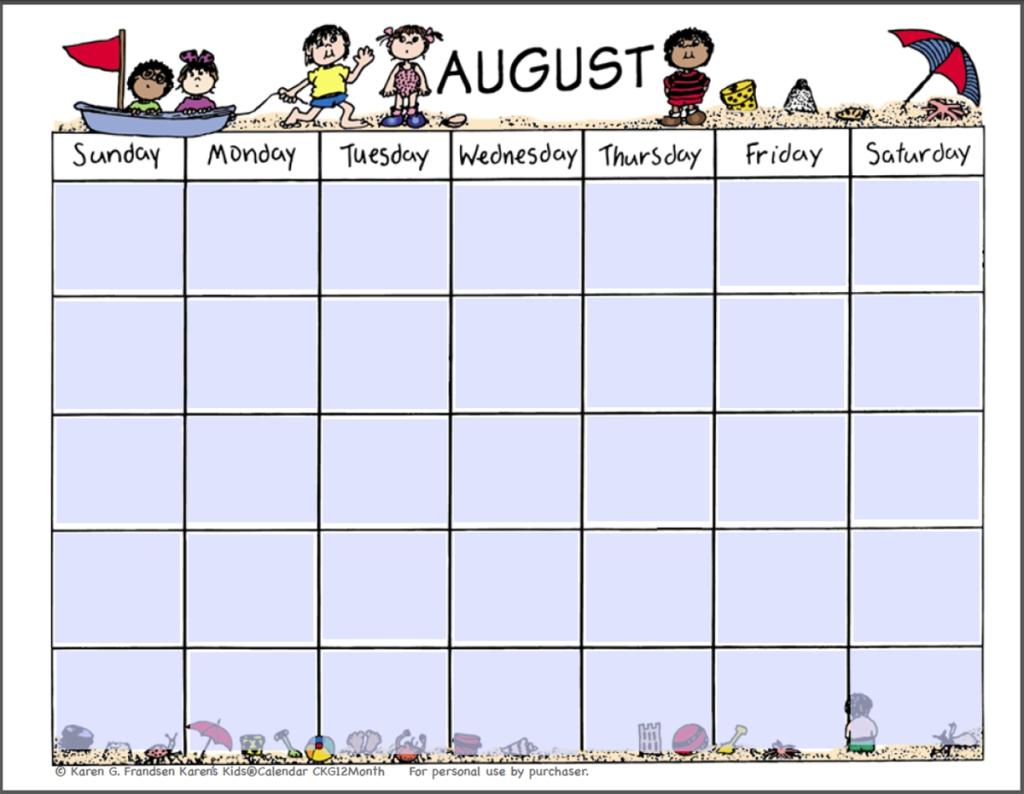 2018 Calendar Fillable And Printable For Children | Calendar