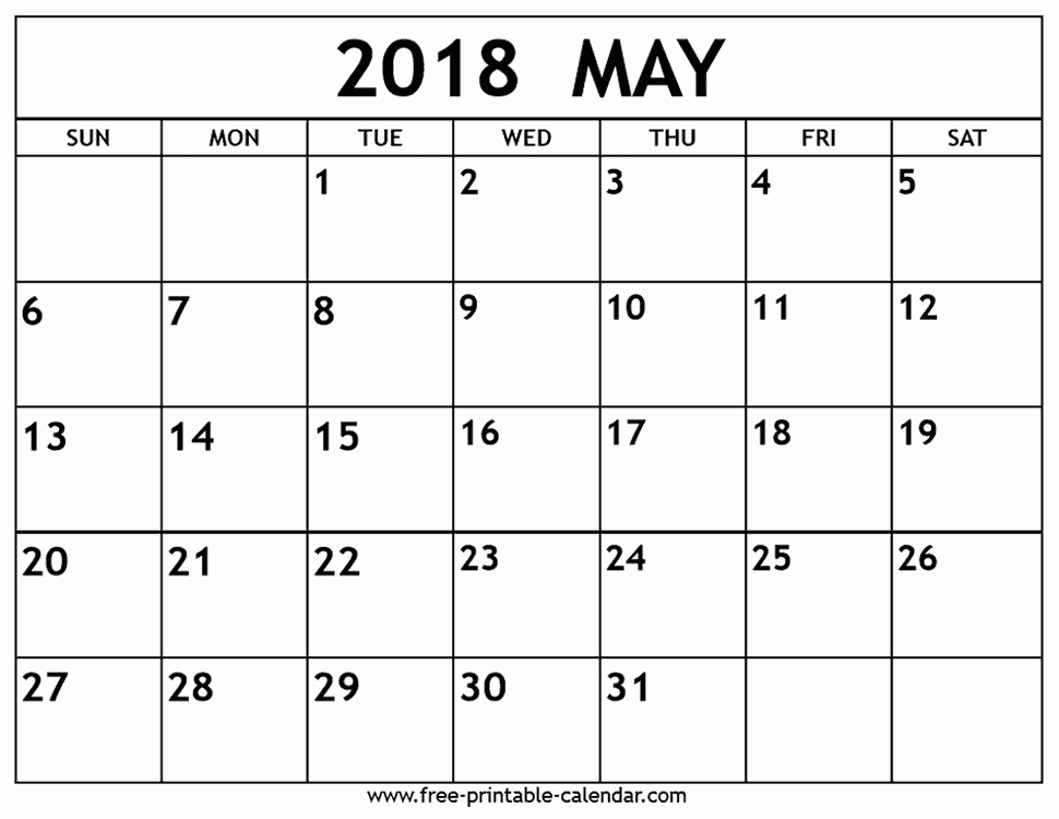 may calendar printable 2018 Maggi.locustdesign.co