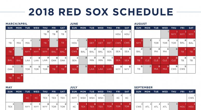 The Red Sox 2018 schedule is wacky | WEEI