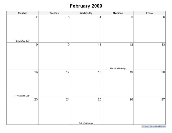 Large Block Printable Calendar | Calendar Template 2018