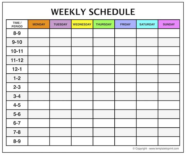Printable Calendar With Time Slots