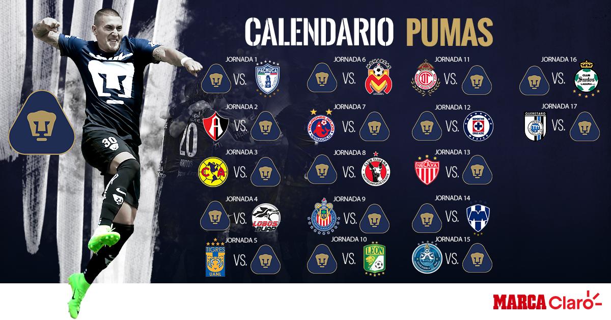 Checa el calendario de Pumas para el Apertura 2017 | MARCA Claro