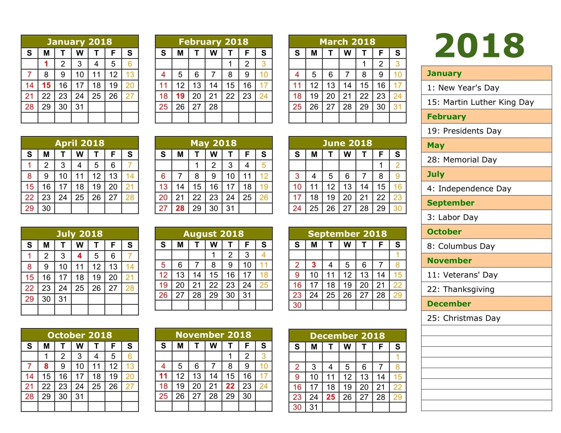 Islamic Calendar 2018 | Hijri Calendar 1439 | [FREE} Printable