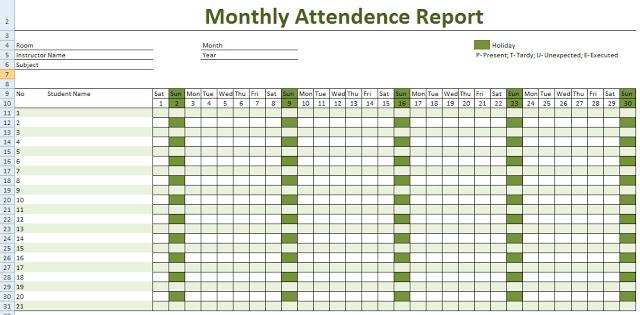 free 2018 attendance calendar Sasolo.annafora.co