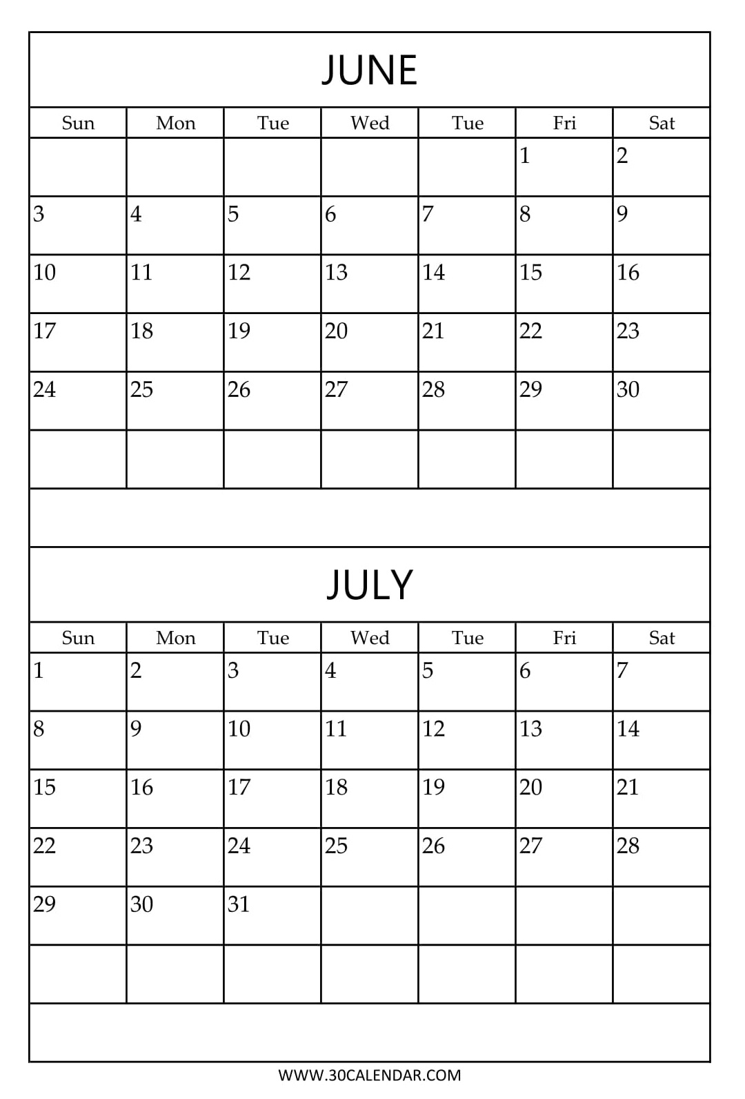 june and july calendar Zlatan.fontanacountryinn.com