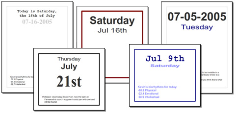 Page Per Day Calendar PDFs!