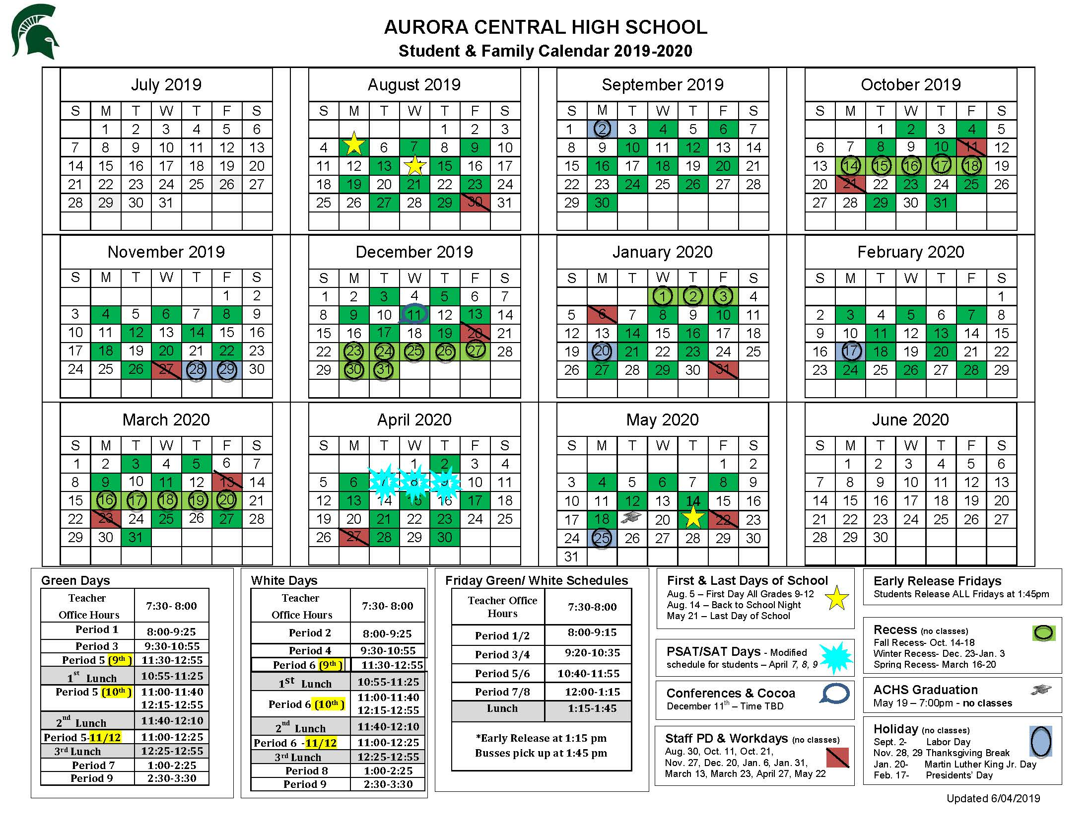 Aurora Central High School Calendar | Aurora Central High School