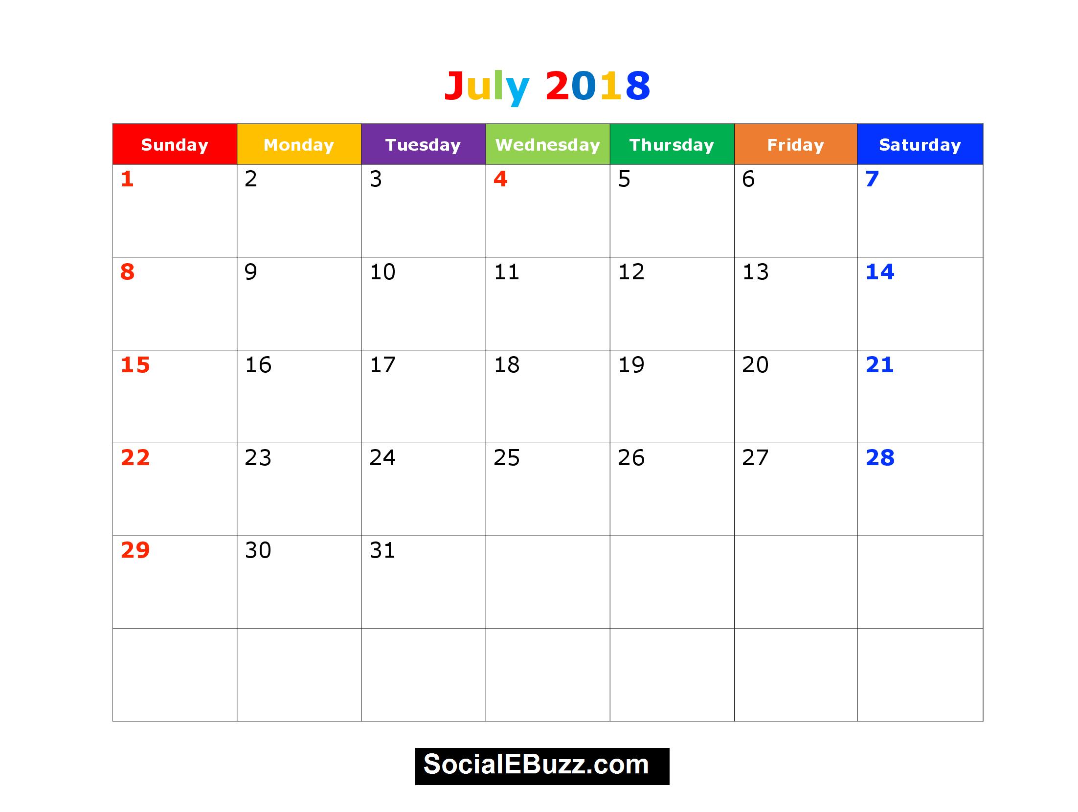 printable calendar july   Suzen.rabionetassociats.com