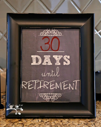 Free retirement countdown calendar printable