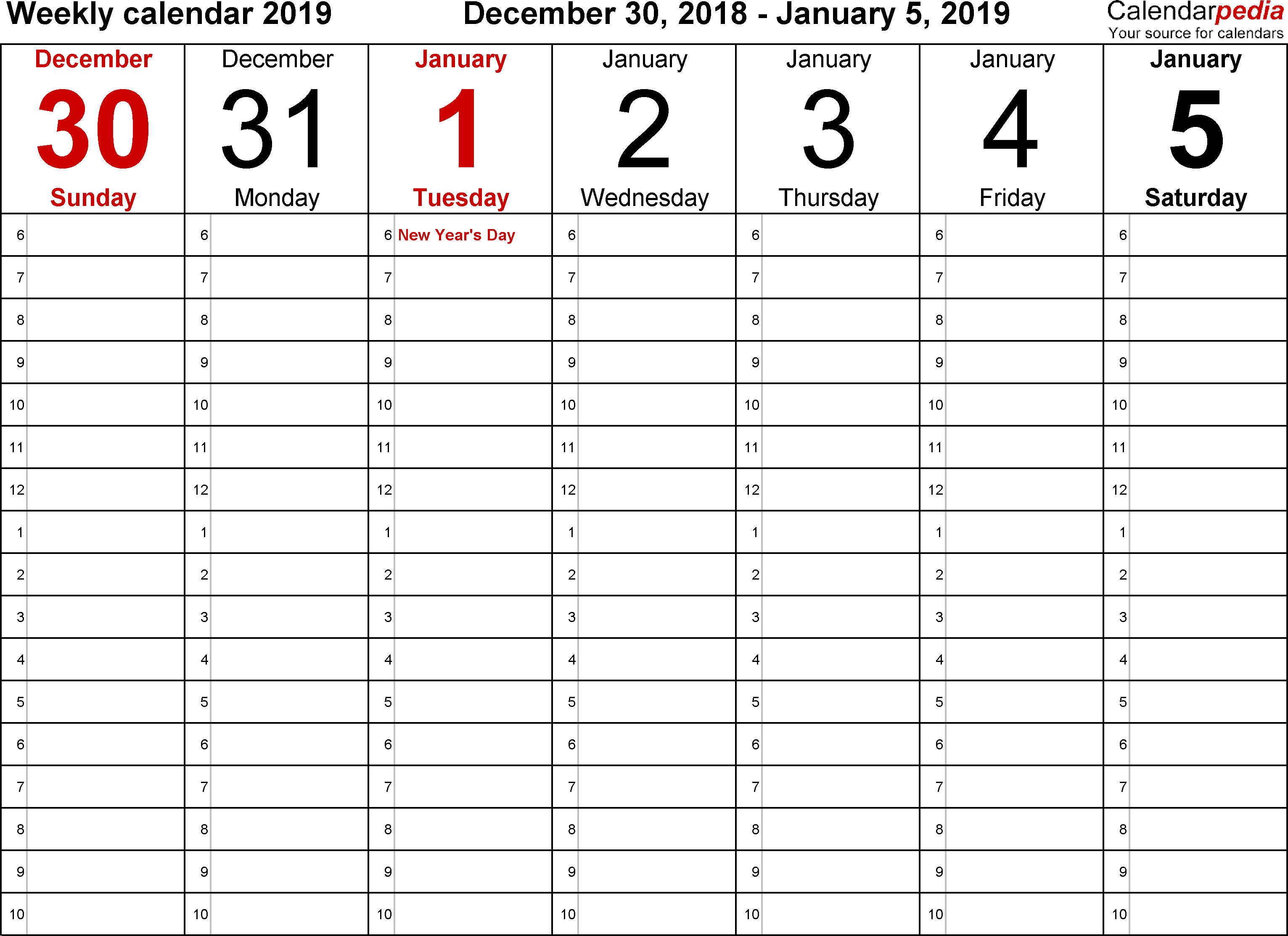 Weekly Hourly Planner Template Word Printable Templates Schedule