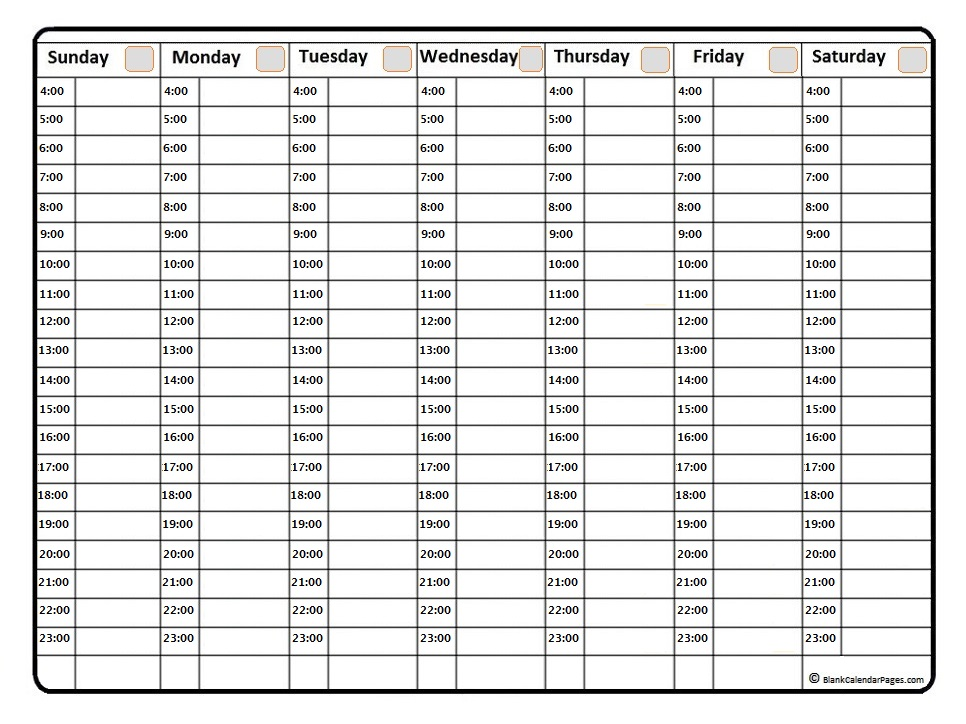 July 2019 weekly calendar | July 2019 weekly calendar template