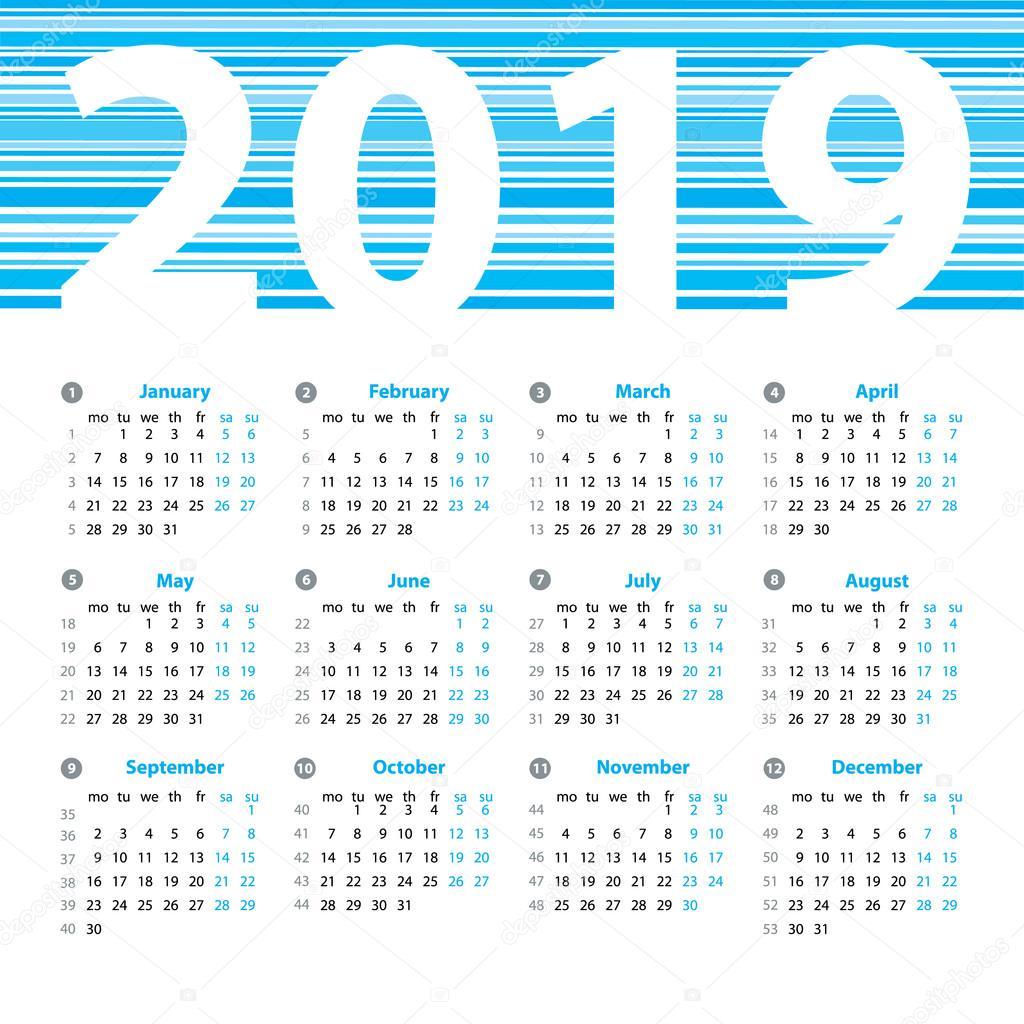 Vectorizado: calendario | Plantilla de diseño de vector calendario