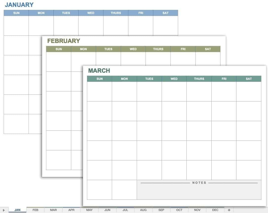 15 Free Monthly Calendar Templates   Smartsheet