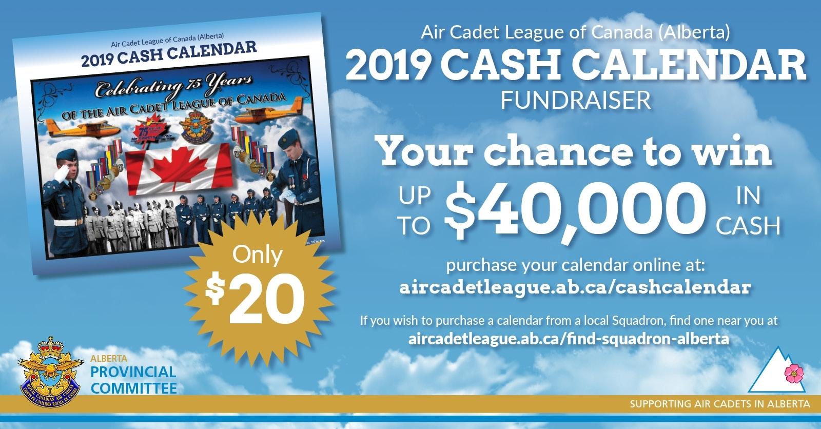2019 Cash Calendar Fundraiser | Alberta Provincial Committee