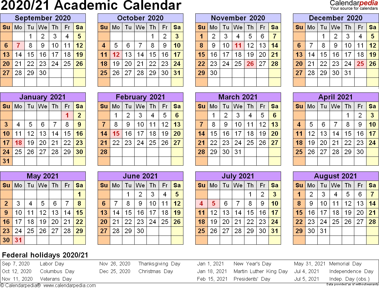 2020 Academic Calendar, #academic #calendar