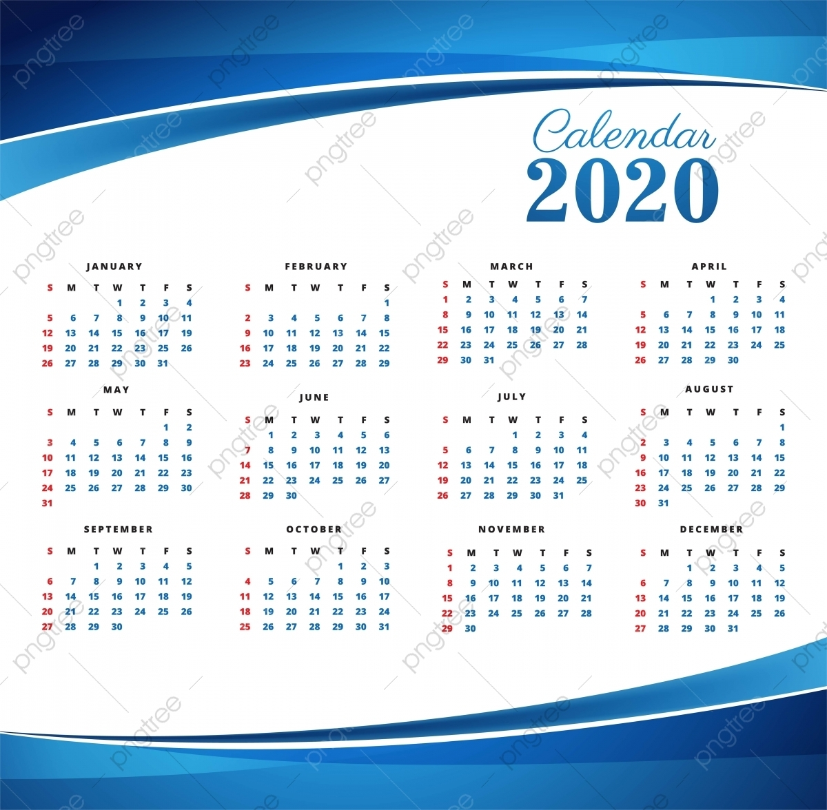 2020 Calendar Png Images | Vector And Psd Files | Free