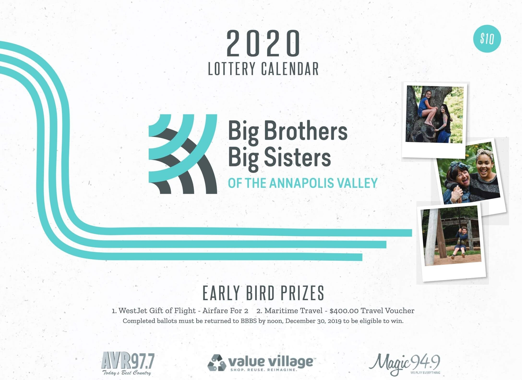 2020 Lottery Calendars Now Available! - Big Brothers Big