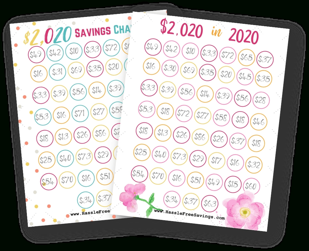 2020 Money Saving Challenges With Free Printables - Hassle
