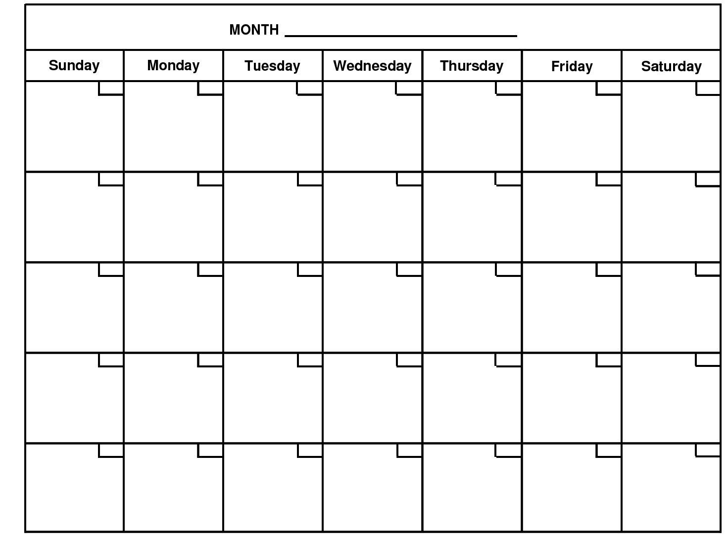 2020 Monthly Calendar Template Word - Google Search | Blank