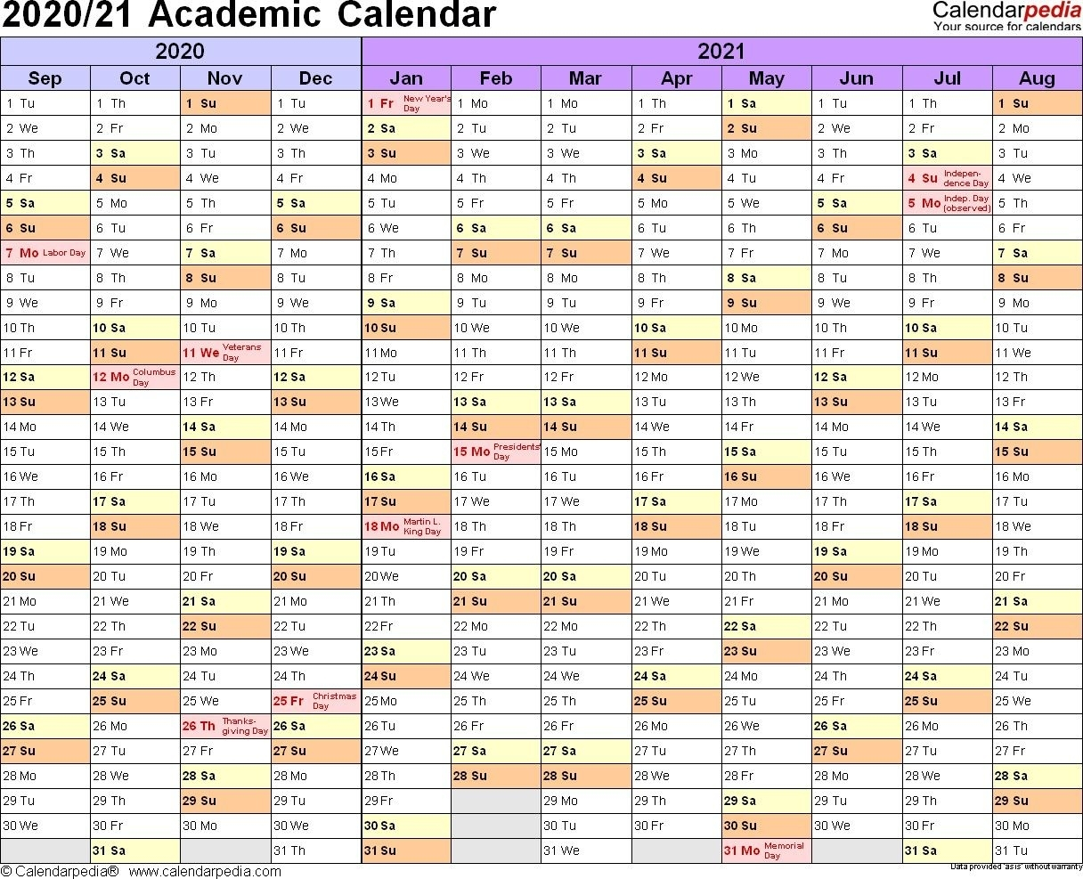 2021 And 2020 Calendar Printable Academic In 2020 | School