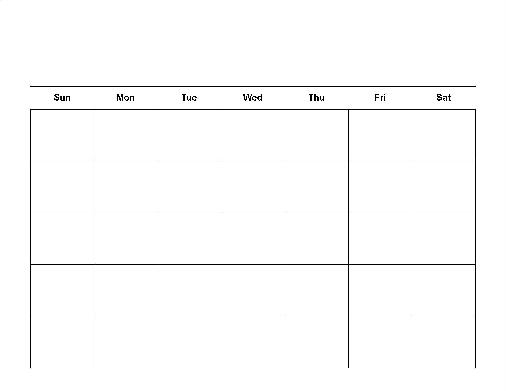 30 Day Calendar Template | Templates Free Printable