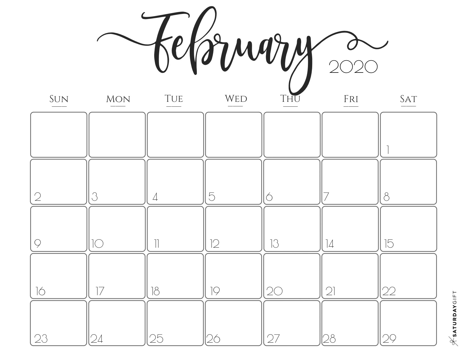 30 Free February 2020 Calendars For Home Or Office - Onedesblog