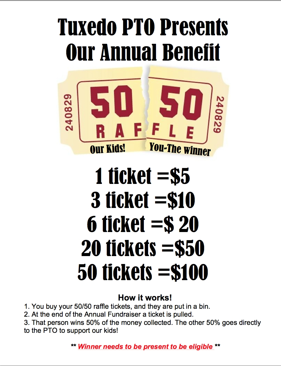 50 50 Raffle Fundraiser Flyer (With Images) | Fundraiser