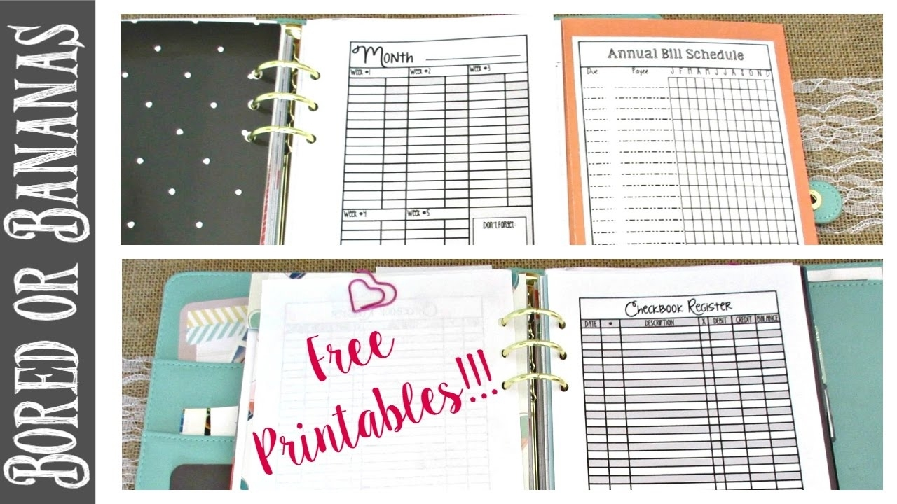 A5 Planner Budget Section Walkthrough + Free Budget Printables
