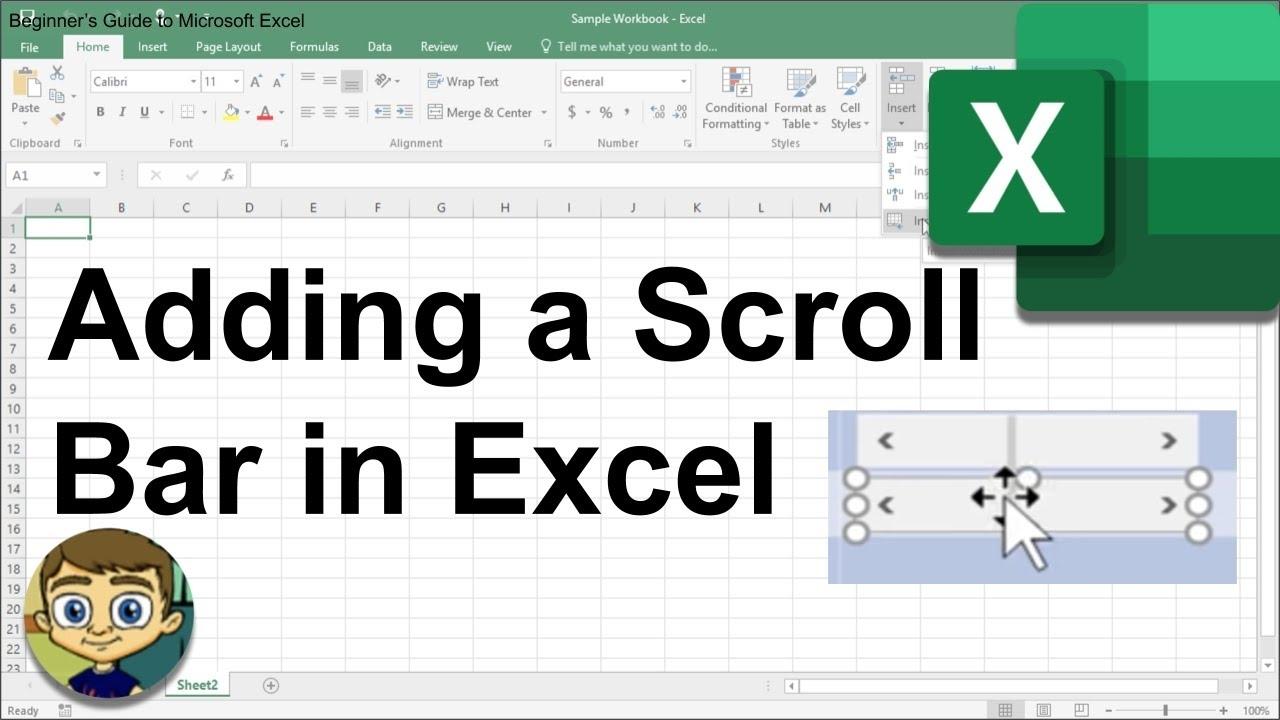 Adding A Scroll Bar In Excel