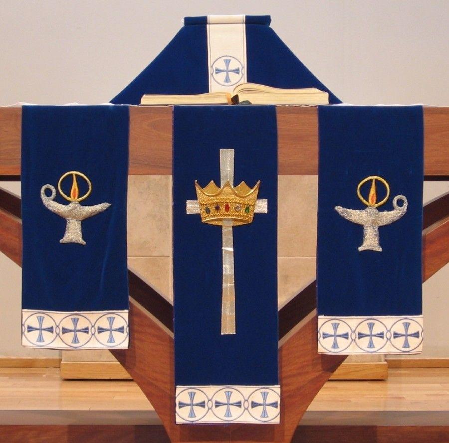 Advent Paraments—Altar Frontals (Con Imágenes) | Estandartes