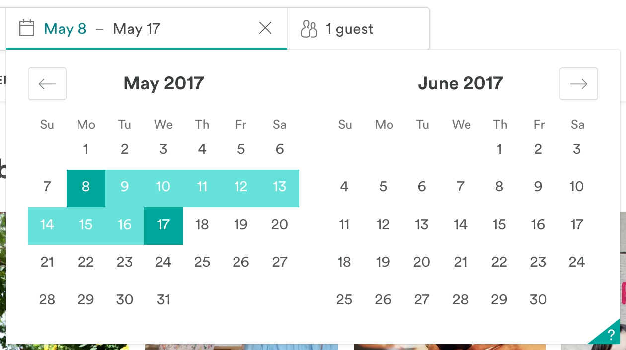 Airbnb Date Range Picker (With Images) | Dating, Pickers, Math