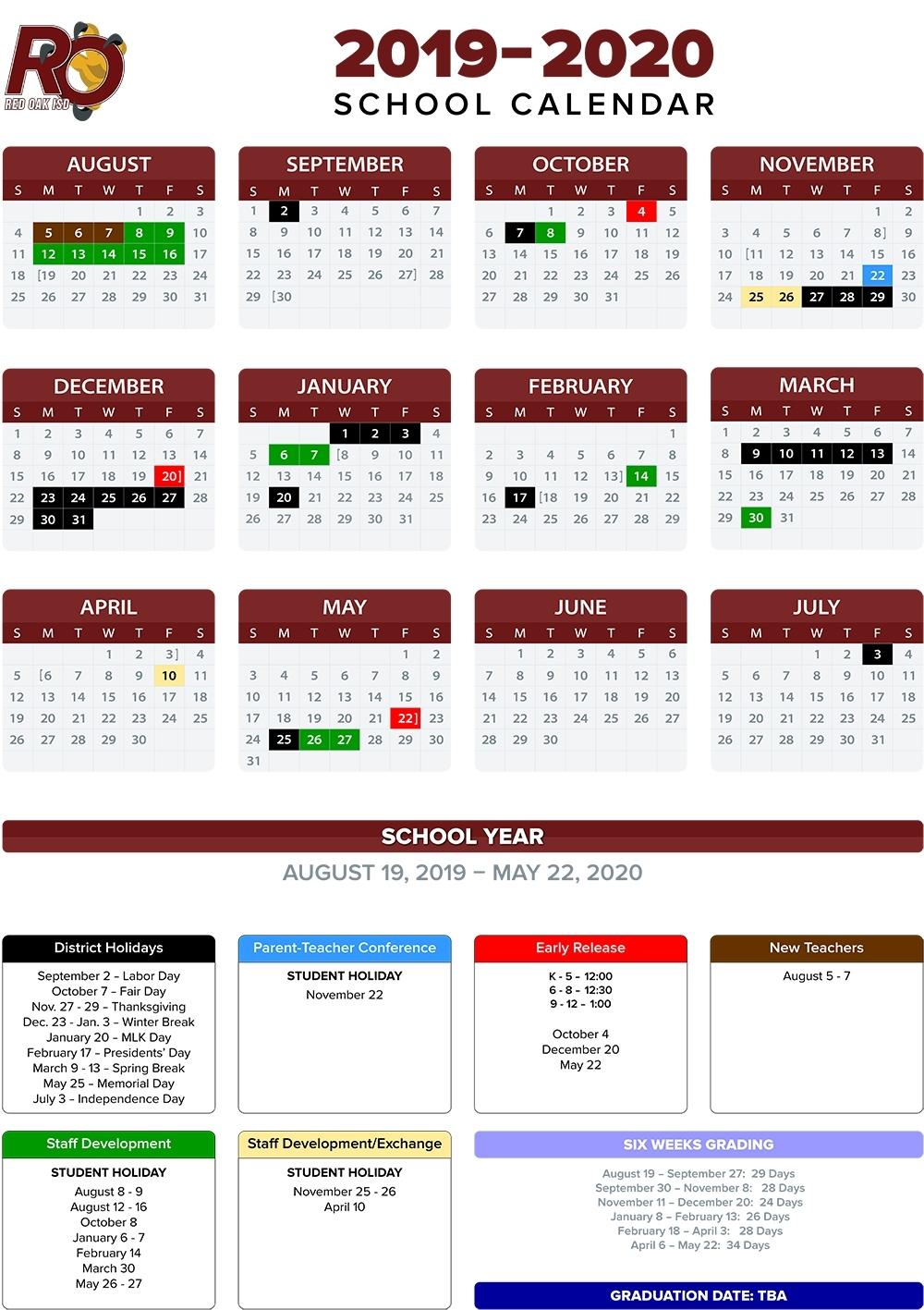 Annual School Calendar / Annual School Calendar