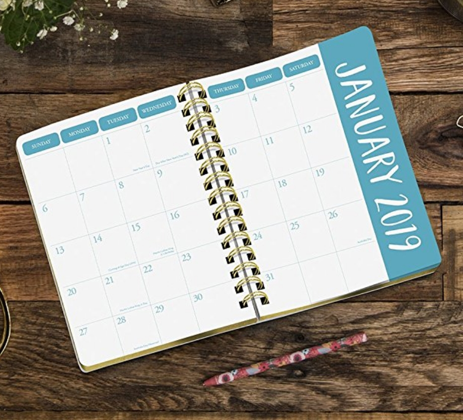 Best Feminine Monthly - Yearly Planners For 2019 - Stray Curls