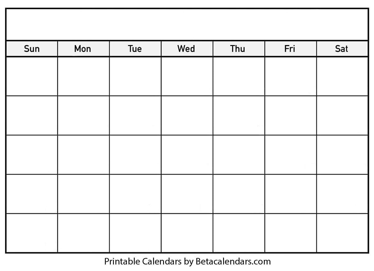 Blank Calendar - Beta Calendars