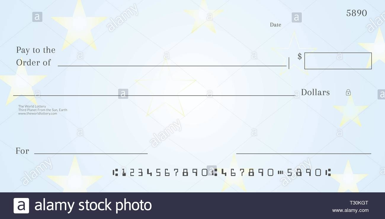 Blank Lotto Ticket Template. Empy Lottery Check Stock Vector