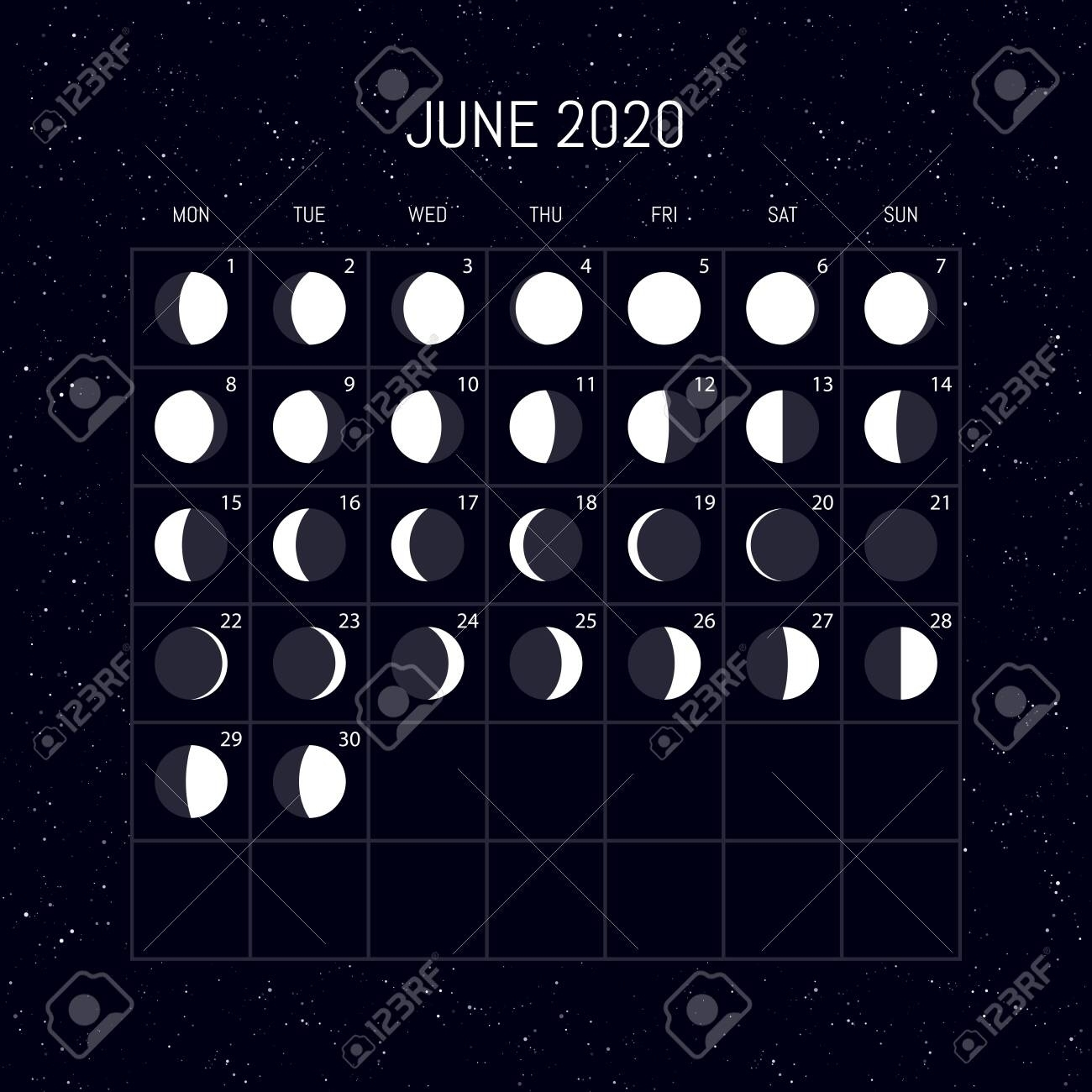 Calendar 2020 With Moon Phases | Calendar Printables Free